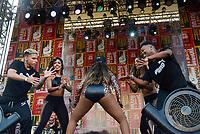 RIO DE JANEIRO, RJ, 15.07.2018 - FRANÇA-CROÁCIA -  Ludimilla faz show após transmissão da partida entre França x Croácia na final da Copa do Mundo da Russia na Funfest Arena numero 1 no Boulevard Olímpico centro do Rio de Janeiro neste domingo, 15. (Foto: Clever Felix/Brazil Photo Press)