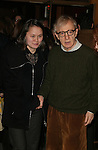 Woody Allen with his wife Soon-Yi Allen.Attending the Opening Night Performance of.TWENTIETH CENTURY at the American Airlines Theatre in New York City..March 25, 2004.© Walter McBride /