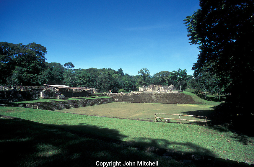 Acropolis and inner compound at the Mayan ruins of Quirigua, Guatemala