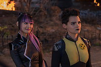 DEADPOOL 2 (2018)<br /> Shioli Kutsuna and Brianna Hildebrand (Negasonic Teenage Warhead)<br /> *Filmstill - Editorial Use Only*<br /> CAP/FB<br /> Image supplied by Capital Pictures