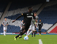 Victor wanyama being watched by Graham Carey in the St Mirren v Celtic Scottish Communities League Cup Semi Final match played at Hampden Park, Glasgow on 27.1.13.