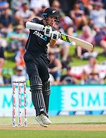 New Zealand's Mitchell Santner.  Black Caps v England, second international cricket ODI, Bay Oval, Tauranga, New Zealand. Wednesday, 28 February, 2018. Copyright photo: John Cowpland / www.photosport.nz