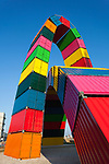 Chaine of containers by Vincent Ganivet, Le Havre, Seine-Maritime department, France