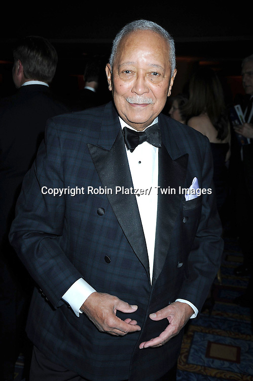 """David Dinkins attending The UNCF Gala celebrating The 40th Anniversary of  """" A Mind is a Terrible Thing to Waste"""" ad campaign on March 3, 2011 at The Marriott Marquis Hotel in New York City. Vernon Jordan, Young & Rubicam and The Ad Council were honored."""
