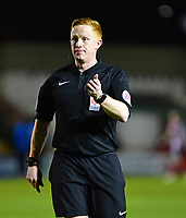 Referee Alan Young<br /> <br /> Photographer Andrew Vaughan/CameraSport<br /> <br /> Vanarama National League - Lincoln City v Chester - Tuesday 11th April 2017 - Sincil Bank - Lincoln<br /> <br /> World Copyright &copy; 2017 CameraSport. All rights reserved. 43 Linden Ave. Countesthorpe. Leicester. England. LE8 5PG - Tel: +44 (0) 116 277 4147 - admin@camerasport.com - www.camerasport.com
