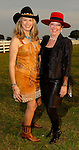 Susan Spalding and Terri DiRaddo at the Cattle Baron's Ball at the George Ranch Saturday April 28,2007.(Dave Rossman/For the Chronicle)