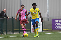 Chidubem Onokwai of Haringey and Jack Strange of Corinthians during Haringey Borough vs Corinthian Casuals, BetVictor League Premier Division Football at Coles Park Stadium on 10th August 2019