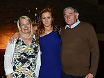 Amy O'Brien celebrating her 21st birthday in McHugh's with grandparents Phil and Breda O'Brien. Photo:Colin Bell/pressphotos.ie