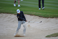 Austin Cook (USA) hits from the trap on 14 during Round 2 of the Valero Texas Open, AT&T Oaks Course, TPC San Antonio, San Antonio, Texas, USA. 4/20/2018.<br /> Picture: Golffile | Ken Murray<br /> <br /> <br /> All photo usage must carry mandatory copyright credit (© Golffile | Ken Murray)