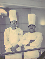 A copy of a photograph of Paul Bocuse and Philippe Mouchel provided by Mouchel.