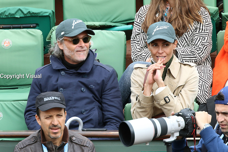 Ines Sastre watching tennis at Roland Garros tennis open 2016. Paris - may 23. 2016.