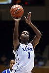 30 October 2014: Duke's Elizabeth Williams. The Duke University Blue Devils hosted the Limestone College Saints at Cameron Indoor Stadium in Durham, North Carolina in an NCAA Women's Basketball exhibition game. Duke won the game 100-33.