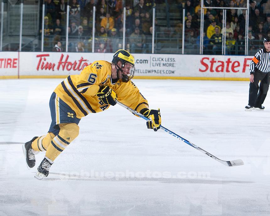 University of Michigan ice hockey 2-1 victory over Ohio State University at Yost Ice Arena in Ann Arbor, MI, on February 12, 2011.
