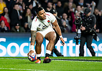 Manu Tuilagi of England scores his 2nd try during the Guinness Six Nations match between England and Italy at Twickenham Stadium on March 9th, 2019 in London, United Kingdom. Photo by Liam McAvoy.