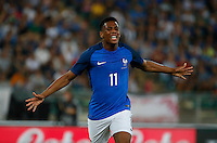 Anthony Martial  celebrates after scoring during the  friendly  soccer match,between Italy  and  France   at  the San  Nicola   stadium in Bari Italy , September 01, 2016<br /> <br /> amichevole di calcio tra le nazionali di Italia e Francia