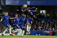 Cesar Azpilicueta of Chelsea and Wilfred Ndidi of Leicester city during Chelsea vs Leicester City, Premier League Football at Stamford Bridge on 13th January 2018