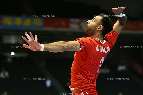 Adel Gholami (IRI),<br /> MAY 29, 2016 - Volleyball :<br /> Men's Volleyball World Final Qualification for the Rio de Janeiro Olympics 2016<br /> match between Canada 2-3 Iran<br /> at Tokyo Metropolitan Gymnasium, Tokyo, Japan.<br /> (Photo by Shingo Ito/AFLO SPORT)