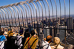 New York City, New York: Top of Empire State Building  .Photo #: ny289-14949  .Photo copyright Lee Foster, www.fostertravel.com, lee@fostertravel.com, 510-549-2202.