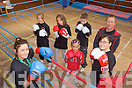 THE GLOVES ARE ON: Members of the Trojan Boxing Club at is new base in the old FCA Hall in Listowel, front l-r: Niamh Ball, Evie Corrigan, Lynne Murphy. Back l-r: Jane Downey, Philomena Hickey, Tiernan Ball, Grahame Ball.
