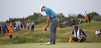 Jordan Spieth (USA) misses a putt at the 9th during Sunday's Final Round at The 146th Open played at Royal Birkdale, Southport, England.  23/07/2017. Picture: David Lloyd | Golffile.<br /> <br /> Images must display mandatory copyright credit - (Copyright: David Lloyd | Golffile).