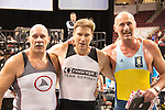 Veteran Men (age 50-54) Winners LtoR: Andrew Sangster, Team GB, 3rd, David Gray, Concept2 Team Germany, 1st, Michele Marullo, Circolo Canottieri Aniene, 2nd, The Crash-B World Indoor Rowing Championships, Peter Dreissigacker, Concept2, Veteran Men (Age 60-64), 2012, Boston, Massachusetts, All athletes compete annually on a Concept2 Indoor Rower for time over 2000 meters