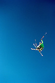 USA, Utah, male skier getting big air, Park City Ski Area