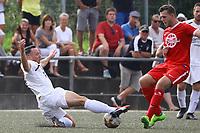 Raffael Kuellmer (Buettelborn) kämpft um den Ball - Büttelborn 27.08.2017: SKV Büttelborn vs. SV Olympia Biebesheim