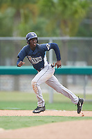 GCL Rays right fielder Jesus Sanchez (3) running the bases during the second game of a doubleheader against the GCL Red Sox on August 9, 2016 at JetBlue Park in Fort Myers, Florida.  GCL Rays defeated GCL Red Sox 9-1.  (Mike Janes/Four Seam Images)