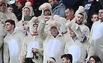 Welsh rugby fans in fancy dress - RBS 6Nations 2015 - Scotland  vs Wales - BT Murrayfield Stadium - Edinburgh - Scotland - 15th February 2015 - Picture Simon Bellis/Sportimage