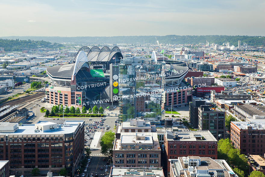 View of Pioneer Square, Stadium Place apartments and Century Link Field
