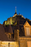 Europe/France/Normandie/Basse-Normandie/50/Manche: Baie du Mont Saint-Michel, classée Patrimoine Mondial de l'UNESCO, Le Mont Saint-Michel   vu depuis les remparts // Europe/France/Normandie/Basse-Normandie/50/Manche: Bay of Mont Saint Michel, listed as World Heritage by UNESCO,  The Mont Saint-Michel