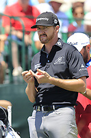 Jimmy Walker (USA) on the 1st tee to start his match during Thursday's Round 1 of the 117th U.S. Open Championship 2017 held at Erin Hills, Erin, Wisconsin, USA. 15th June 2017.<br /> Picture: Eoin Clarke | Golffile<br /> <br /> <br /> All photos usage must carry mandatory copyright credit (&copy; Golffile | Eoin Clarke)