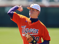 Clemson infielder Richard Mounce (20) prior to a game between the Charlotte 49ers and Clemson Tigers Feb. 22, 2009, at Doug Kingsmore Stadium in Clemson, S.C. (Photo by: Tom Priddy/Four Seam Images)