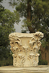 Israel, Coastal Plain, column's capital of the Roman Basilica in Ashkelon