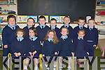 BEHAVED: Behaved kids on their first day at Ballylongford NS on Wednesday. Front l-r: Katie Finucane, Ca?it Carmody, Carragh O'Donoghue, Grace O'Neill and Aisling O'Donoghue. Back l-r: Niall O'Connor, Oran O'Neill, Liam Connolly, Cillian Kennelly, Ethan McDonald, Bobby McCarron and Eoghan Kelliher.... ....
