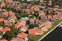 aerial view, housing development, Coconut Grove, Miami, FL