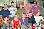 Kerry climbers and their colleagues who climbed Kilmanjaro last month reunited to celebrate their acheivement in the Bricin restaurant, Killarney on Saturday night front row l-r:Siobhain Storey Sligo, Marian Quinn Mayo, Sharon McCarthy Glenbeigh, Mark Slee Mayo, Mary Cosgrove Mayo. Back row: Michael Storey Sligo, Francis Cosgrove Mayo, Timothy O'Connor Glenbeigh, Dan O'Sullivan Moyvane and John Shanahan Glenbeigh ..