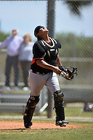 Miami Marlins Arturo Rodriguez (84) during a minor league spring training game against the New York Mets on March 30, 2015 at the Roger Dean Complex in Jupiter, Florida.  (Mike Janes/Four Seam Images)