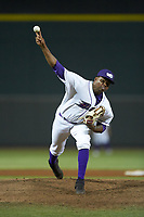 Winston-Salem Dash relief pitcher Luis Ledo (39) in action against the Lynchburg Hillcats at BB&T Ballpark on May 9, 2019 in Winston-Salem, North Carolina. The Dash defeated the Hillcats 4-1. (Brian Westerholt/Four Seam Images)