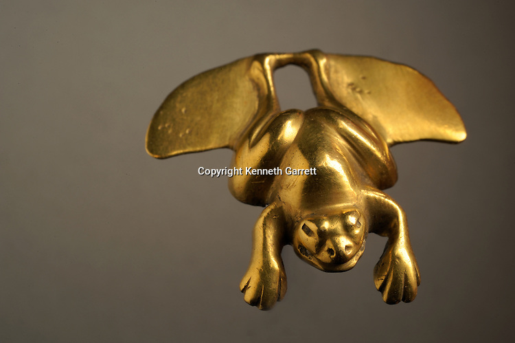 National Museum of Anthropology and History; Mexico; MM7677; Greatest Aztecs; Aztec,  NMAH, Mexico City, Mexico,Gold, Frog