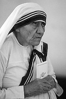 Mother Teresa at her Mission of Charity in Calcutta in 1996.