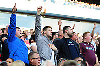 Swansea city fans during the Sky Bet Championship match between Aston Villa and Swansea City at Villa Park in Birmingham, England, UK.  Saturday 20 October  2018