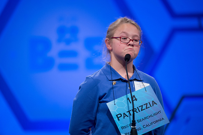 Speller 14 Patrizzia Constanza Fox-Beaudet competes in the preliminary rounds of the Scripps National Spelling Bee at the Gaylord National Resort and Convention Center in National Habor, Md., on Wednesday,  May 30, 2012. Photo by Bill Clark