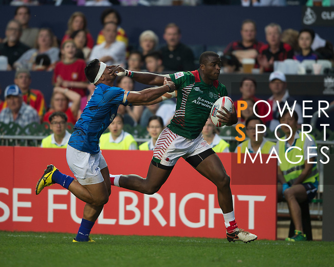 Samoa VS Kenya during    HSBC Hong Kong Rugby Sevens 2016on 08 April 2016 at Hong Kong Stadium in Hong Kong, China. Photo by Li Man Yuen / Power Sport Images