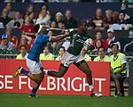 Samoa VS Kenya during    HSBC Hong Kong Rugby Sevens 2016on 08 April 2016 at Hong Kong Stadium in Hong Kong, China. Photo by Li Man Yuen / Power Sport Images