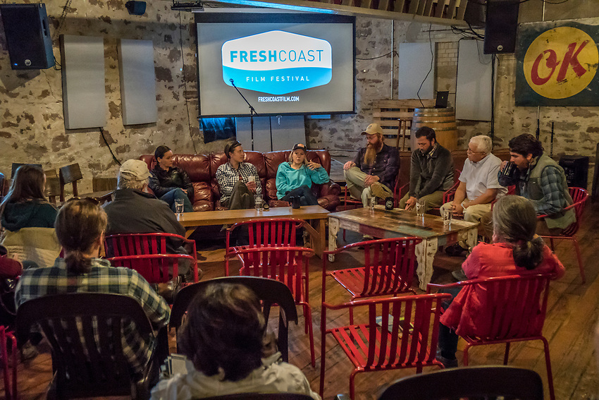 A Fresh Coast Conversations forum during the Fresh Coast FIlm Festival in Marquette, Michigan.