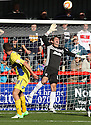 Chris Day of Stevenage saves from Tom Hopper of Bury . Stevenage v Bury - npower League 1 -  Lamex Stadium, Stevenage - 29th September, 2012. © Kevin Coleman 2012