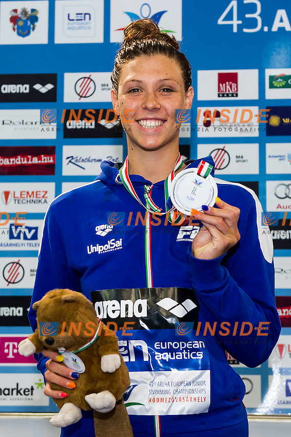 Franceschi Sara ITA<br /> 200 Medley Women Final Silver Medal<br /> LEN 43rd Arena European Junior Swimming Championships<br /> Hodmezovasarhely, Hungary <br /> Day05 10-07-2016<br /> Photo Andrea Masini/Deepbluemedia/Insidefoto