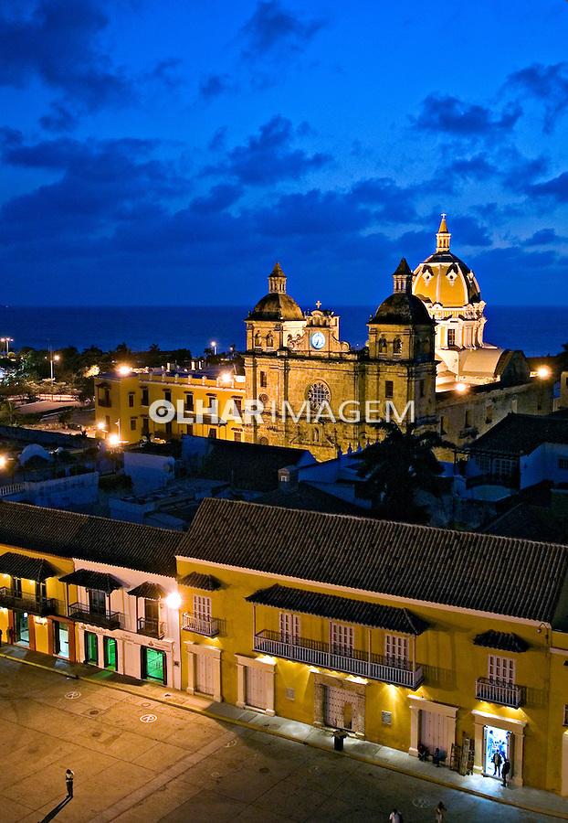 Igreja São Pedro Claver. Centro histórico de Cartagena. Colombia. 2007. Foto de Rogério Reis.