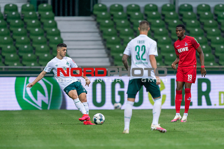 Milot Rashica (Werder Bremen #07), Marco Friedl (Werder Bremen #32), Kingsley Ehizibue (FC Koeln #19)<br /> <br /> <br /> Sport: nphgm001: Fussball: 1. Bundesliga: Saison 19/20: 34. Spieltag: SV Werder Bremen vs 1.FC Koeln  27.06.2020<br /> <br /> Foto: gumzmedia/nordphoto/POOL <br /> <br /> DFL regulations prohibit any use of photographs as image sequences and/or quasi-video.<br /> EDITORIAL USE ONLY<br /> National and international News-Agencies OUT.
